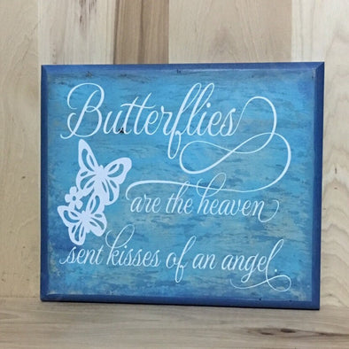 Butterfly wood sign