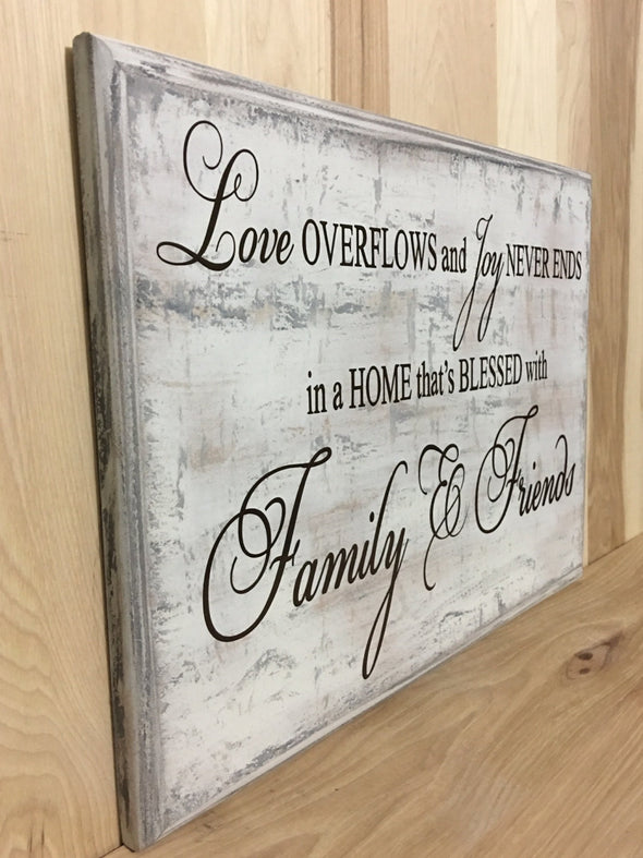 Family wood sign, housewarming wooden sign