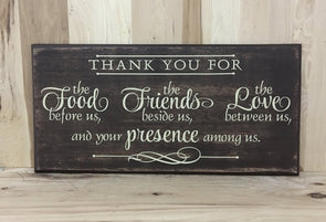 Thank you wood sign