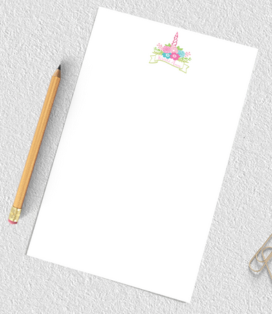 unicorn notepad for girls, personalized