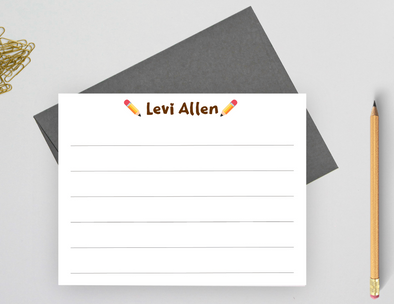 lined stationery for boys