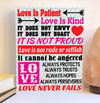 Love is patient Valentine's Day sign