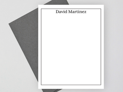 Personalized Note Card Set, Personalized Formal Stationery Set
