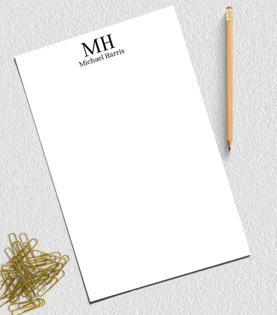 monogram notepad for business