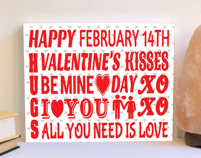 Valentine subway design sign.