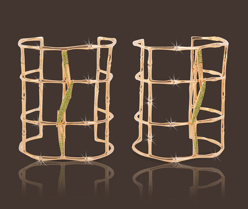 Bamboo Leaves Cuff