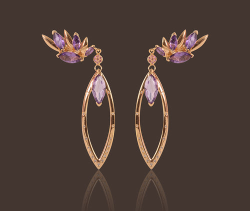 Diva Drop Gold Vermeil Earrings