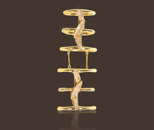 Bamboo Leaves Full Finger Ring 18K Yellow Gold