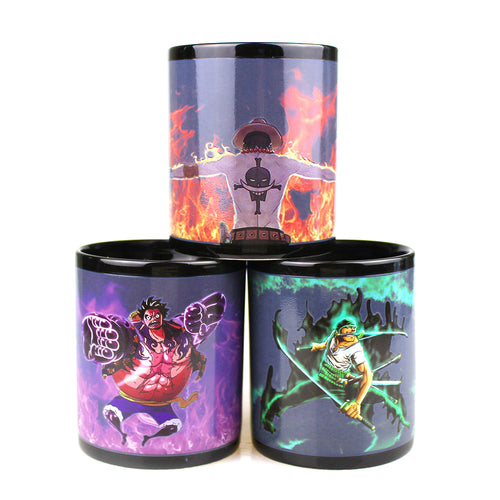 Tasse Mug change couleur Luffy, Zoro, Ace