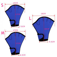 dimensions gant palme gants palmé natation aquagym renforcement musculaire start-to-train start2train boutique eshop shop