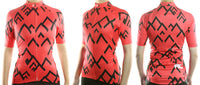 maillot cyclisme vélo femme rouge face dos profil boutique eshop start-to-train