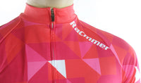 maillot cyclisme vélo femme couleur rouge rose boutique shop start-to-train