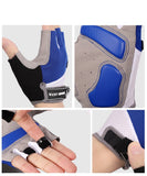 paire de gants vélo cyclisme gant bleu et gris homme femme crossfit protection paume main shop Start to Train