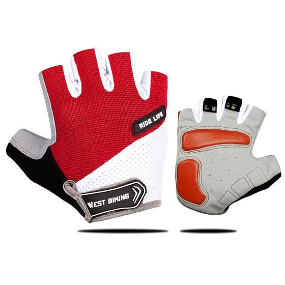 paire de gants vélo cyclisme gant rouge homme femme crossfit protection paume main shop Start to Train
