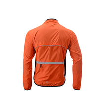 veste coupe-vent réfléchissante vélo dos orange boutique start-to-train