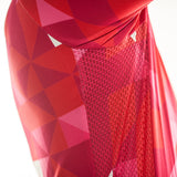 maillot cyclisme homme manches courtes vélo rouge photo aisselle motif triangles boutique eshop start-to-train