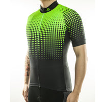 maillot cyclisme vélo vert flash phosphorescent boutique eshop start-to-train