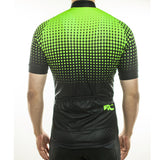 maillot cyclisme vélo dos vert flash phosphorescent boutique eshop start-to-train