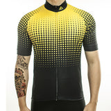 maillot cyclisme vélo photo face jaune noir boutique eshop start-to-train