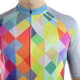 maillot cyclisme homme manches courtes torse motif arlequin carreaux losanges couleurs boutique shop start-to-train