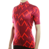 maillot cyclisme vélo femme rouge vif profil boutique eshop start-to-train