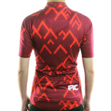maillot cyclisme vélo femme rouge vif dos boutique eshop start-to-train