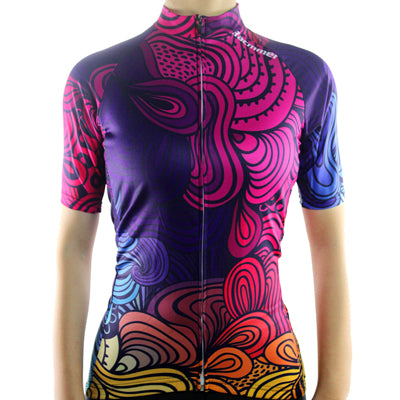 maillot cyclisme vélo femme face rose mauve boutique shop start-to-train