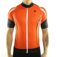 maillot vélo orange tenue velo homme maillot été maillot manche courte boutique start-to-train