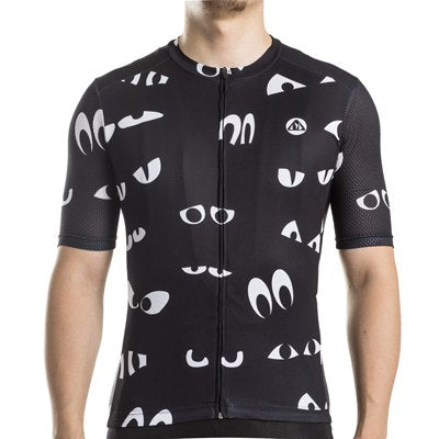 Maillot cyclisme ultramoulant manches courtes homme – Yeux Cartoon