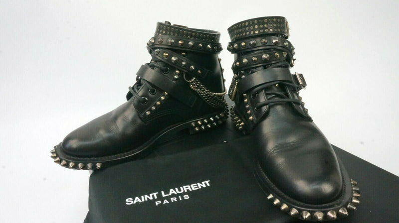 Yves Saint Laurent Biker Boots Size UK 3.5