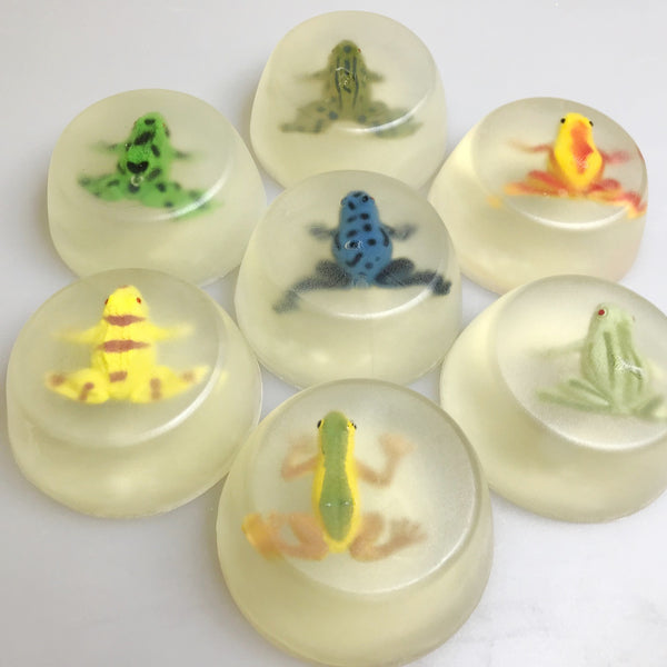 custom unscented glycerin frog soap made in canada
