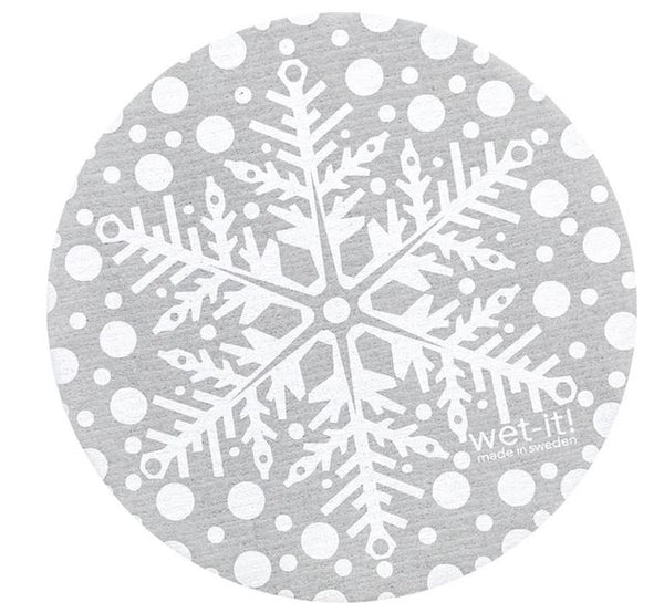buy grey snowflake round wet it swedish dishcloth in canada