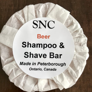 vegetable glycerin beer shampoo shave bar made in canada