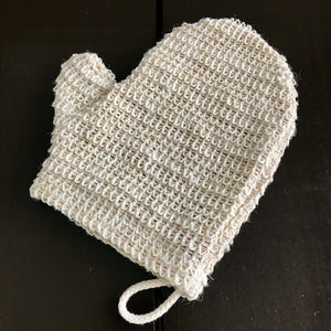 sisal glove mitt for exfoliating