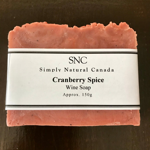 canadian made handcrafted cranberry spice wine soap