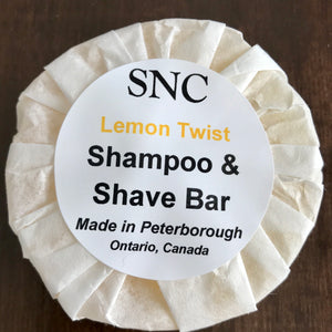 canadian made vegetable glycerin shampoo and shave bar