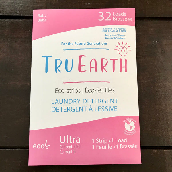 buy tru earth baby eco laundry strips 32 pack