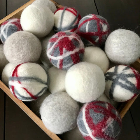 canadian made dryer balls sold individually or in sets of three