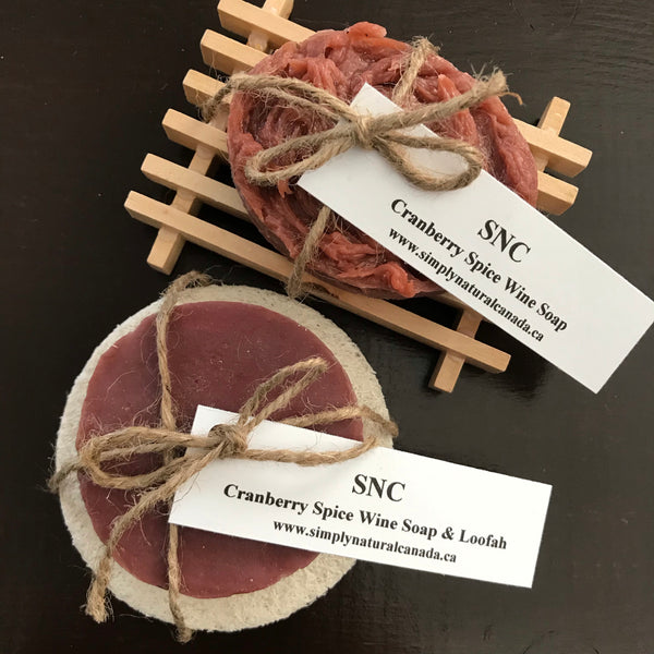 buy cranberry spice wine soap made in canada