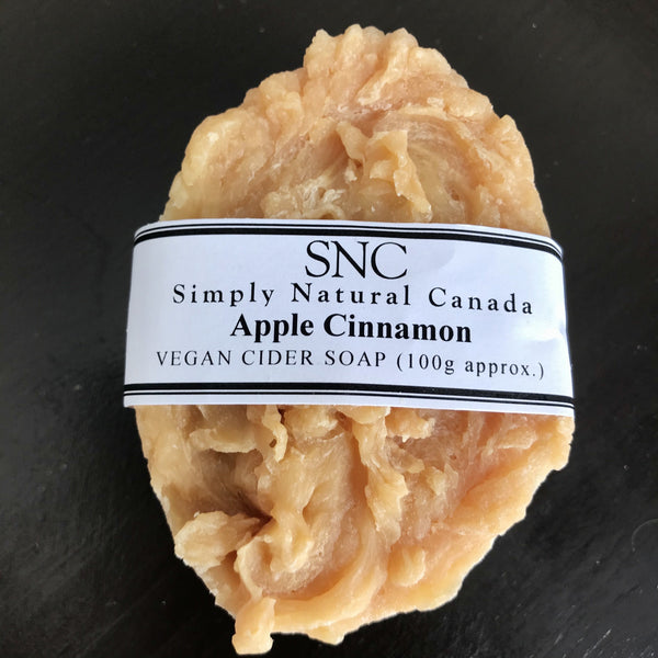 canadian made handcrafted apple cider oval soap