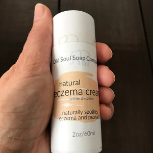 canadian made natural eczerma cream to soothe eczema and psoriasis flareups in compostable tube