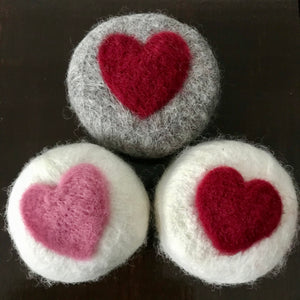 canadian made felted soaps with hearts