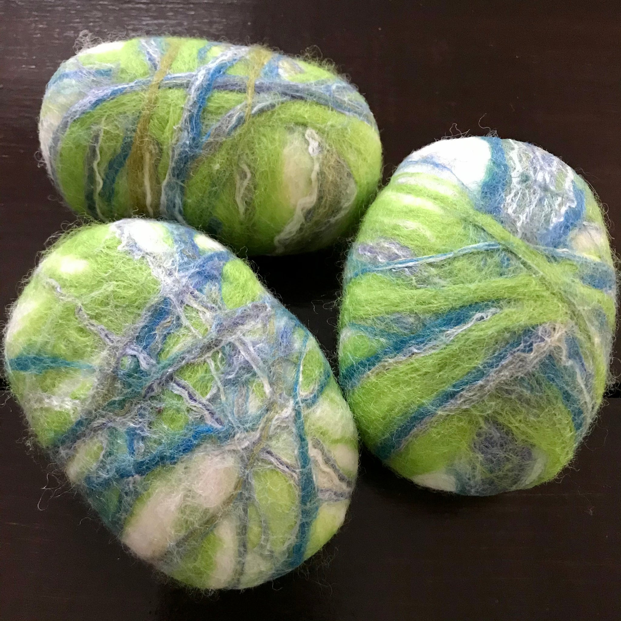 cucumber calendula felted soap made in canada