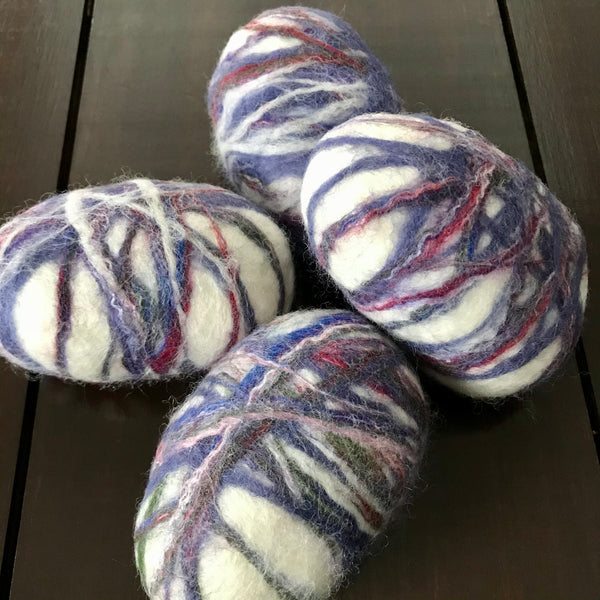 oval lavender soap hand felted in canada