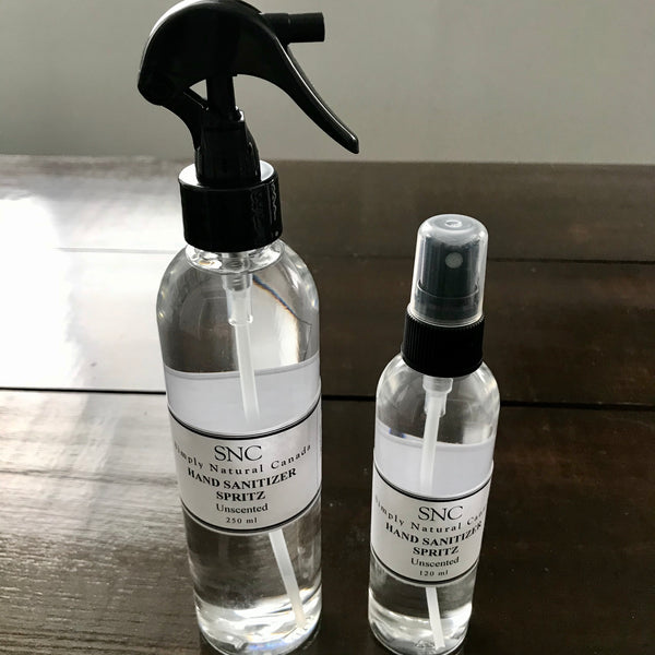 canadian made unscented hand sanitizer spray