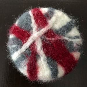 canadian red white and grey rosemary mint felted soap
