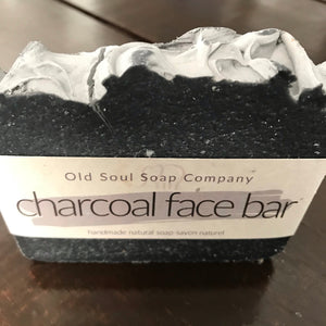 charcoal old soul soap company handcrafted natural facial soap