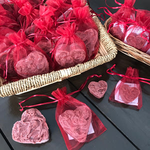 apple cinnamon cider heart soap made in canada