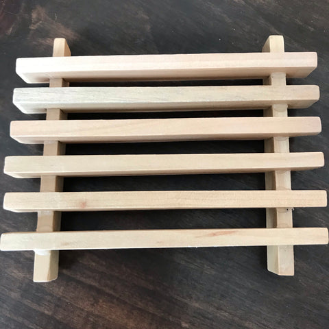 Slotted Wood Soap Dish