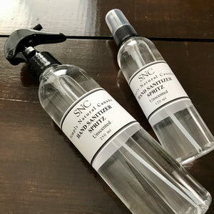 fragrance free hand sanitizer spritz made in canada